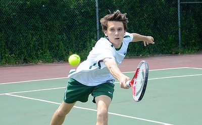 2016 BBA Varsity Boys Tennis Playdown vs Burlington photos by Gary Baker