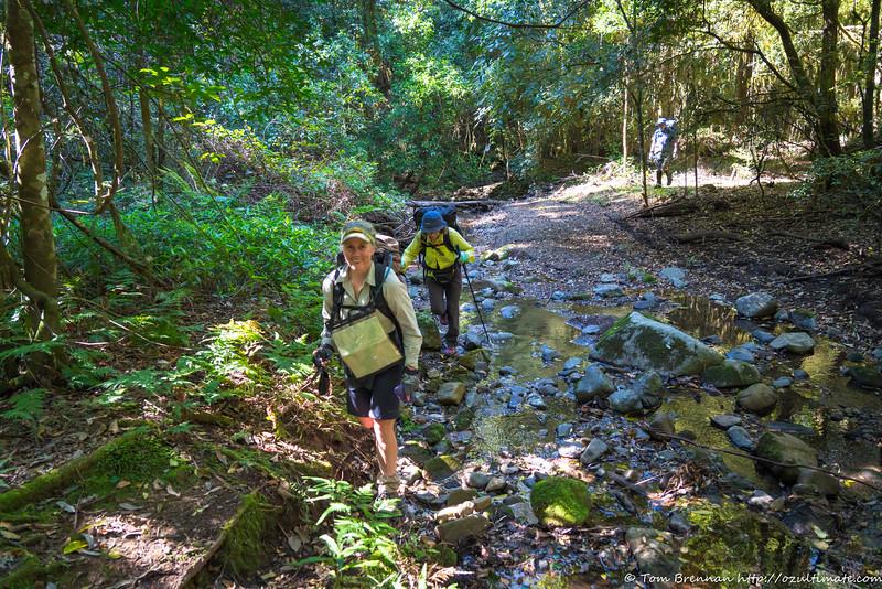 Rachel and Jo in Carrow Brook