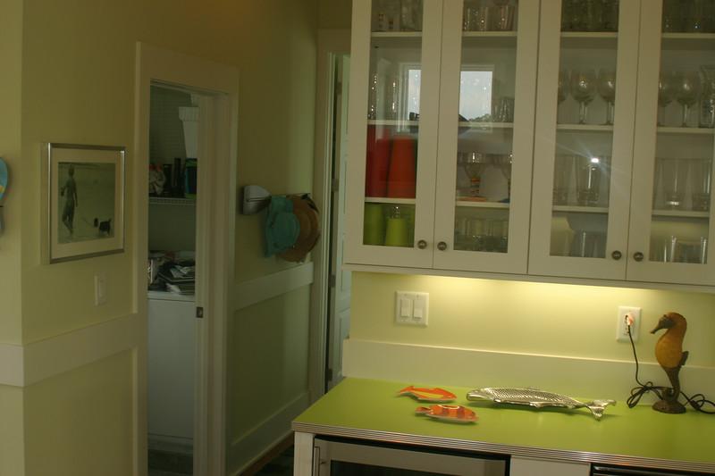 2nd floor kitchen- laundry room door, and hall to green bedroom