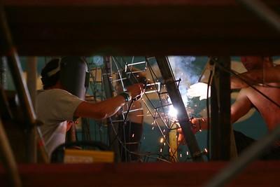 Bloemencorso 2006 - Wagenbouw (20 juli)