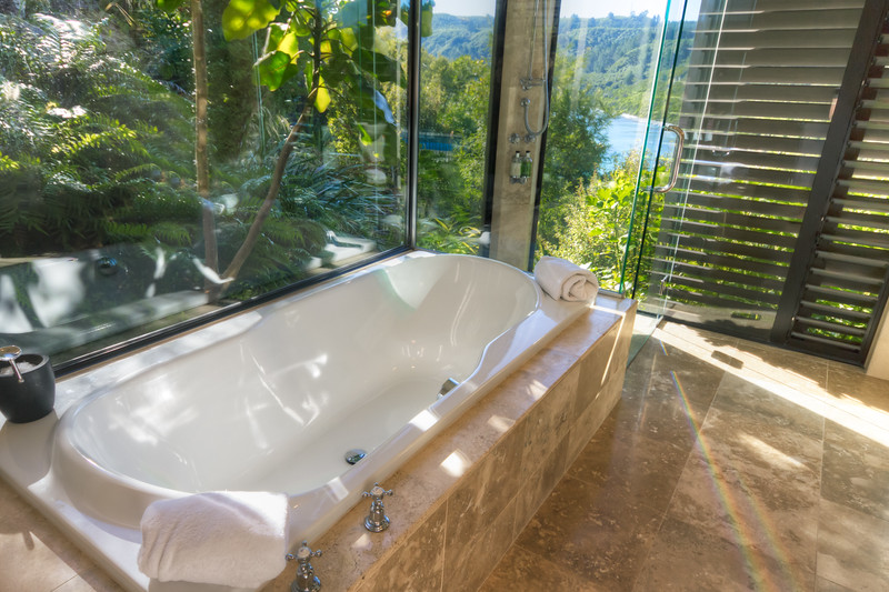 The Point Villas - Ngahere - Ensuite with views