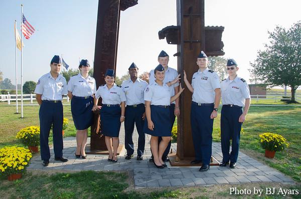 ROTC Students Plant Mums at 9/11 Park