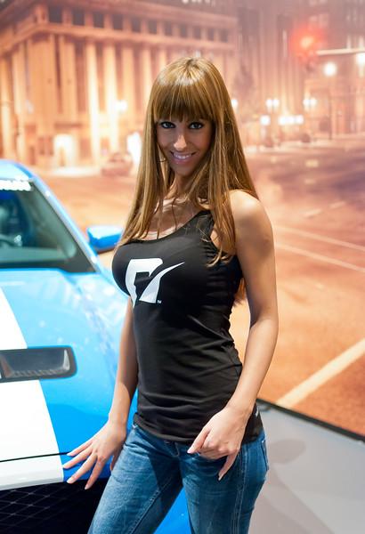 Girl at GamesCom 2011