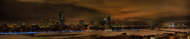 Boston Night Skyline Before another snowfall