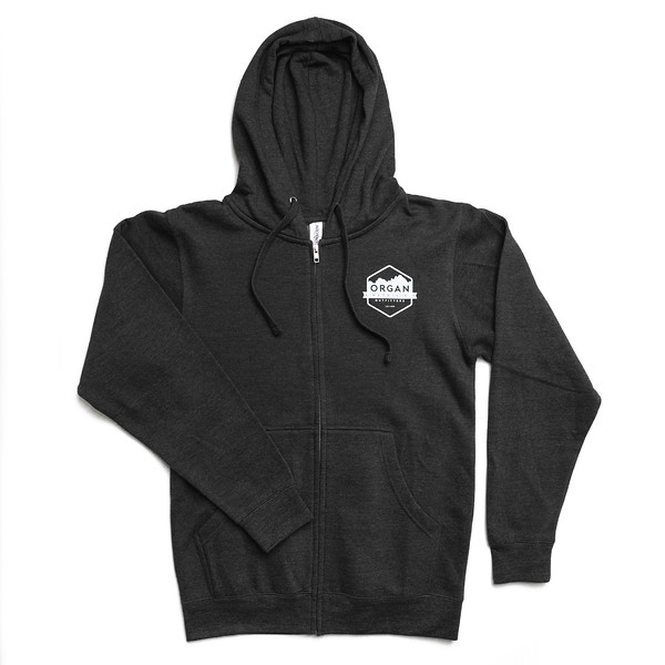Organ Mountain Outfitters - Outdoor Apparel - Sweater - Classic Midweight Zip Up Hoodie - Black Front.jpg