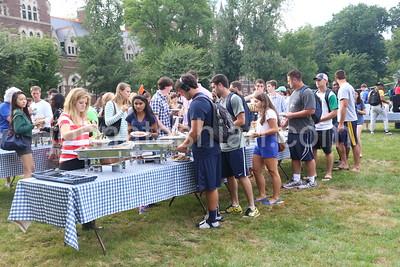 College - Freshman Activities in Mather Hall - August 30, 2014