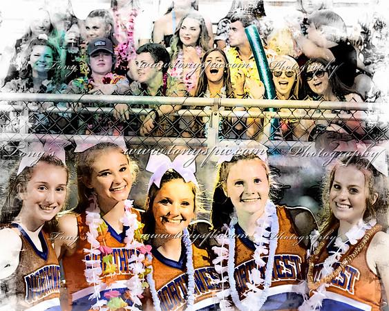 Cheerleaders at CC 17 Aug 2018