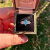 1.73ctw Blue Marquise Cut Diamond Trilogy Ring 23