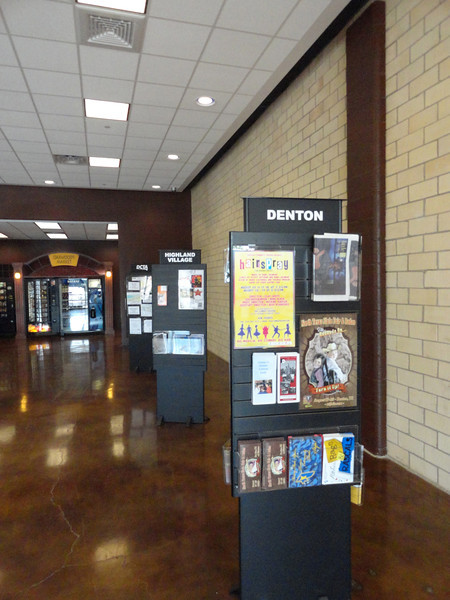 Denton Transportation Center, Airconditioned, restrooms, ticketing, TV, schedules and brochures