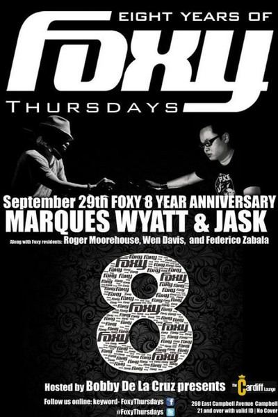 Eight Years of FOXY THURSDAYS @ CARDIFF Lounge 9.29.11