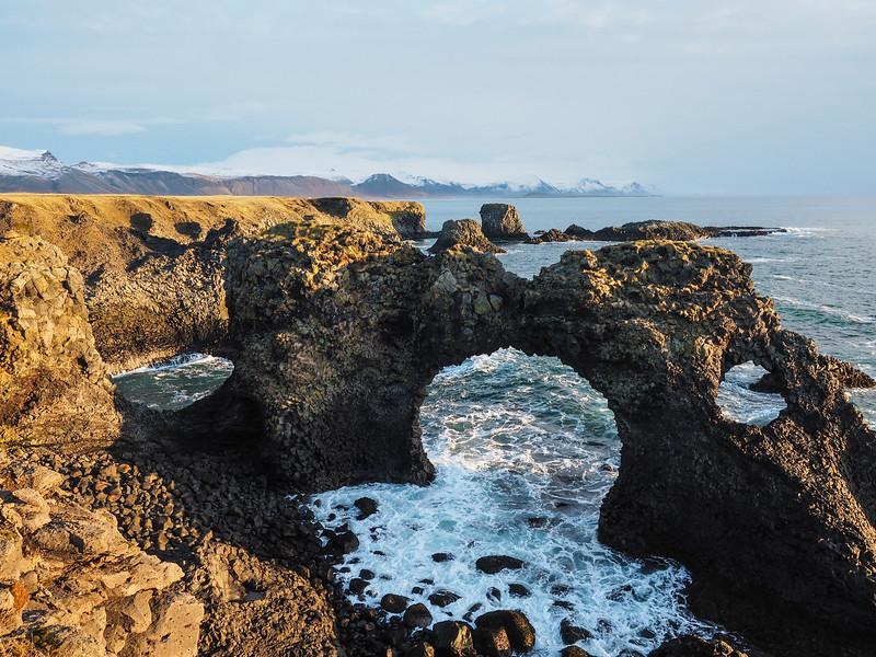 Gatklettur arch in Iceland