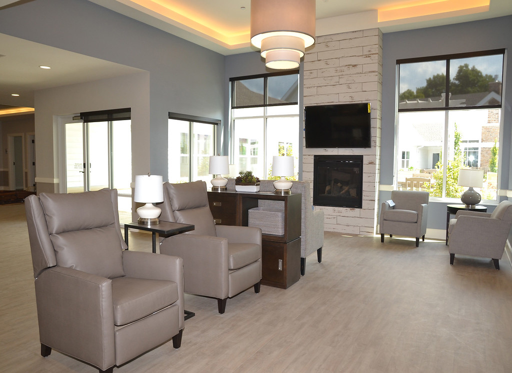 . Common area located in the memory care assisted living small house at Notre Dame Village. Submitted