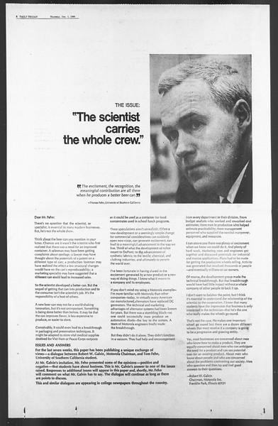 Daily Trojan, Vol. 58, No. 49, December 01, 1966