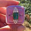 4.05ct Emerald and Old European Cut Diamond Ring 34