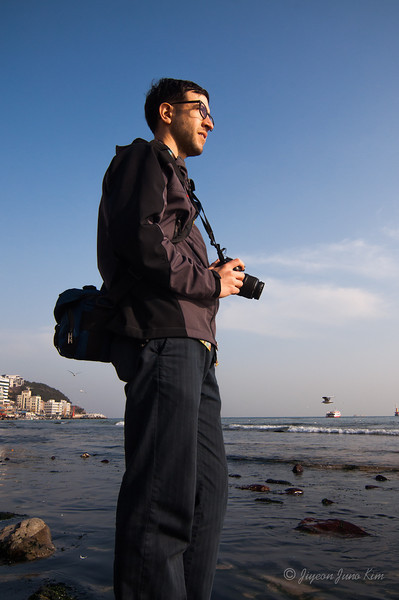Stephen at Haeundae Beach