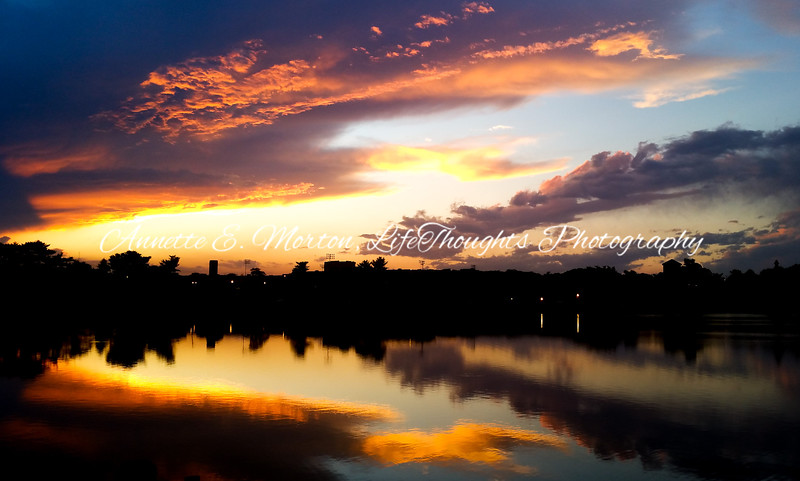 """Glory After the Storm"" Lake Montebello, Baltimore MD"