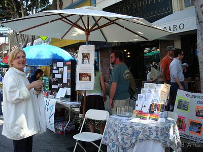 06-08-08 Volunteering with Roberta Morris for HLC at the Los Feliz Street Fair