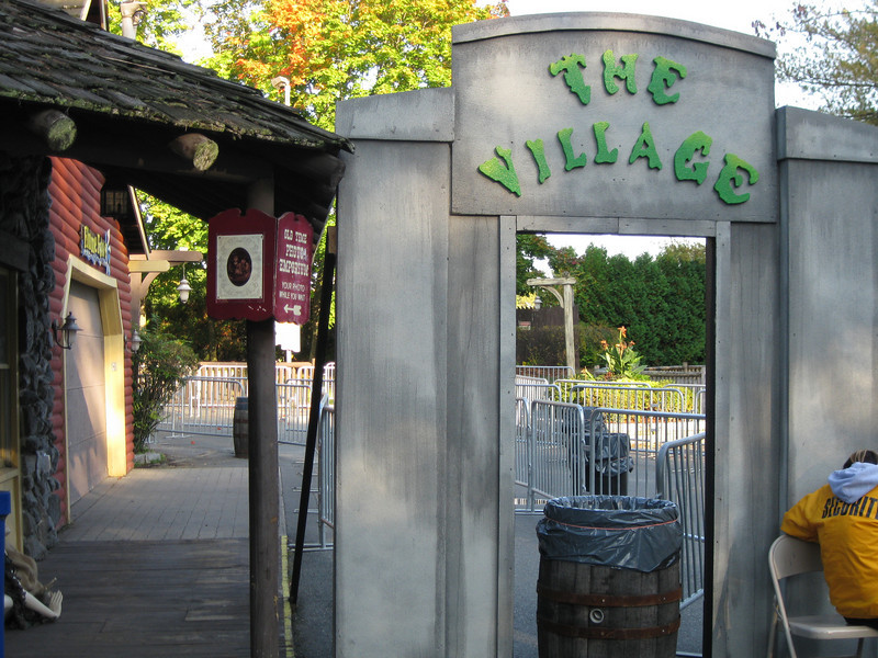 Entrance to The Village haunted house.