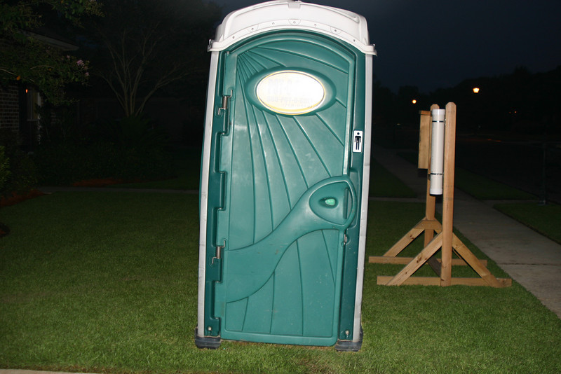 Isn't it great to have your very own port-a-potty in your front yard?