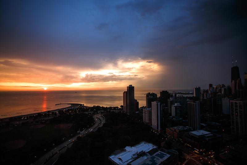 Sunrise over Lake Michigan, Chicago, IL
