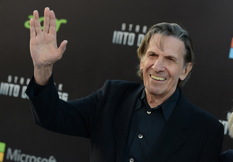 """. Leonard Nimoy arrives at the LA premiere of \""""Star Trek Into Darkness\"""" at The Dolby Theater on Tuesday, May 14, 2013 in Los Angeles. (Photo by Jordan Strauss/Invision/AP)"""