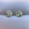 3.40ctw Old European Cut Diamond Pair 4