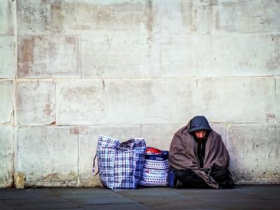 Outside Homeless Camp