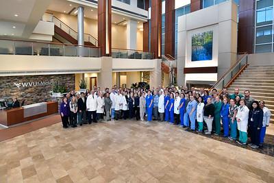WVU Medicine Children's Hospital Doctors,  Nurses,  Flight Crew Ruby lobby November 2017