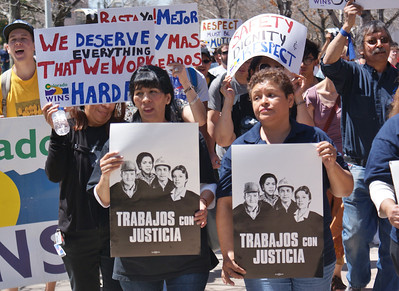 Auraria Custodians Rally/March Denver, Colorado 4/29/13