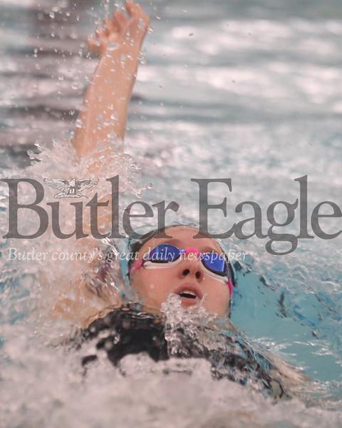 Seneca Valley's Kendall Craig, 200 IM vs Butler 02/13/20 Seb Foltz/Butler Eagle