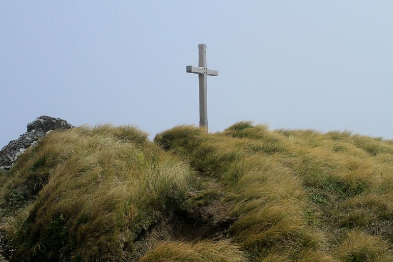 Memorial Cross on the top of Mt Hector
