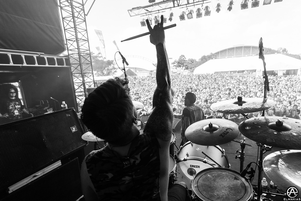 From the drummer's view -  Soundwave Festival 2013