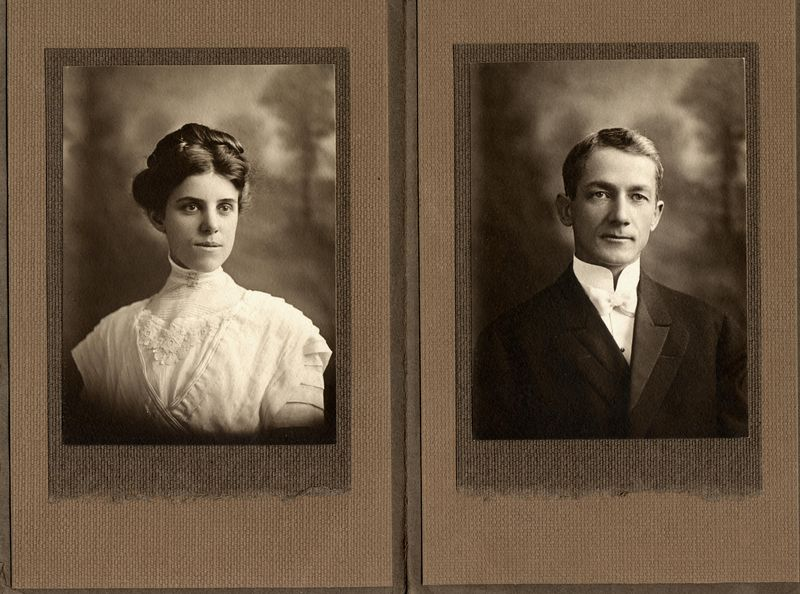 Permelia Adelaide Harrison (1886-1983) and Frank Gilbert Haven Stevens (1874-1983) married April 13, 1910 in Santa Monica, Los Angeles County, California.