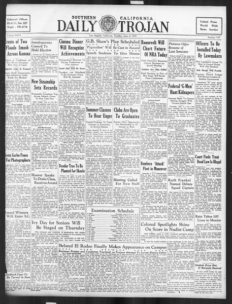 Daily Trojan, Vol. 26, No. 150, June 04, 1935