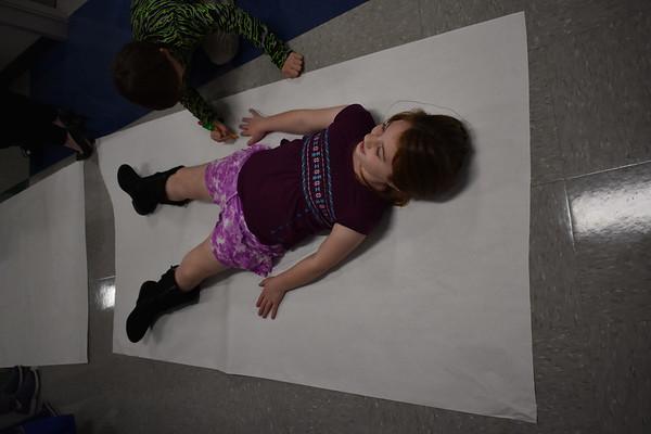 Second Grade Body Tracings