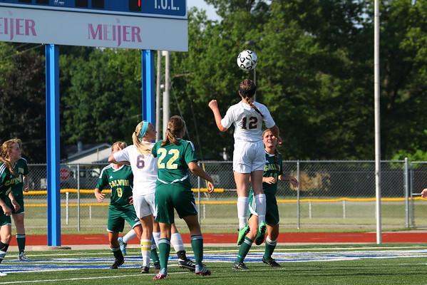 Soccer Girls State Semifinal vs. Grandville Calvin Chr. - KCHS - 6/10/15