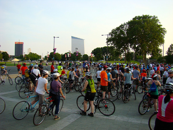 Ride of Silence 2012 in Philly