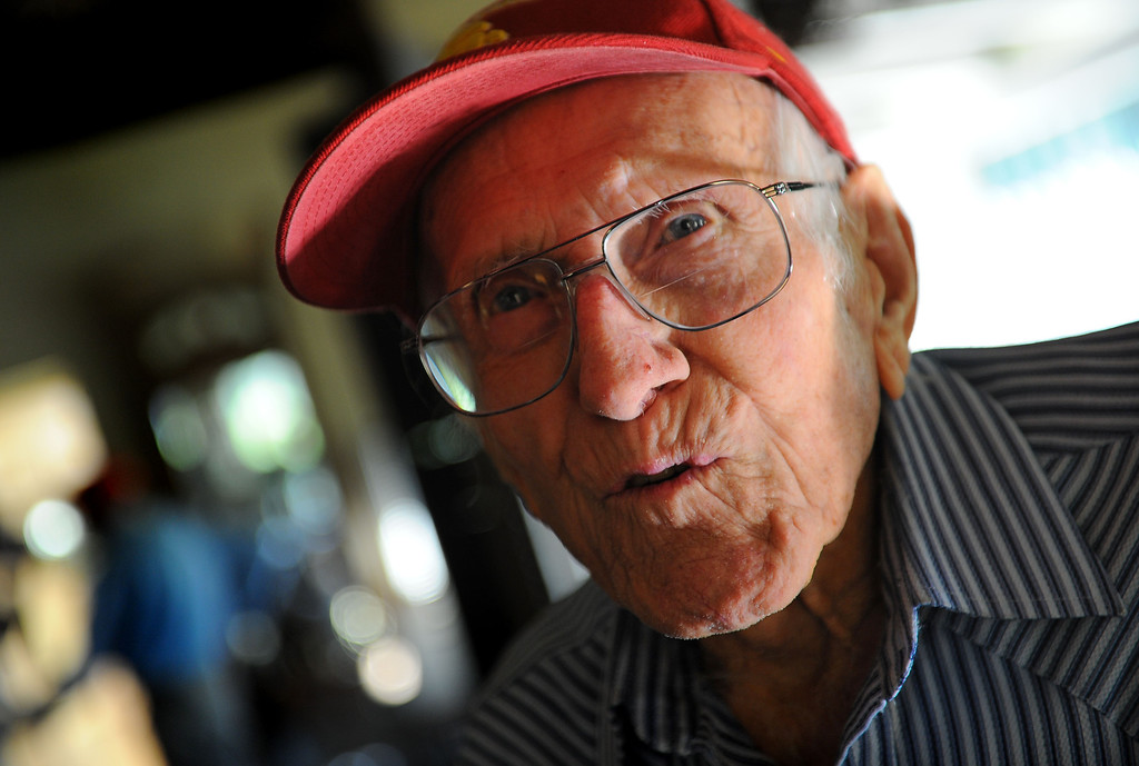 . Louis Zamperini, 94, at his Hollywood home. Photo by Brad Graverson 11-8-10