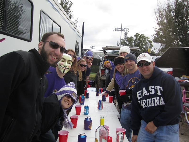 11/5/2011 ECU vs Southern Miss - , Missy, , Jessica, Lauren, Preston, Billy, Jen, Staci, Chris, Jon