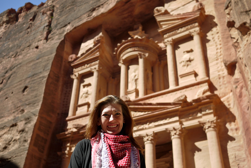 Me, at the Treasury in Petra, Jordan.