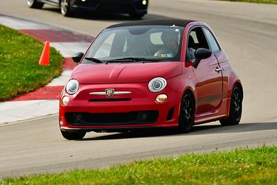 2019 SCCA TNiA Sept Pitt Race Red Fiat