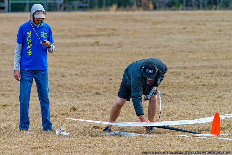 Steve Blake (pilot) and Jody Miller (timing) - FSS (Florida Soaring Society) contest #1 2018, hosted by the Orlando Buzzards in Christmas, Florida