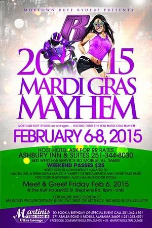 Mobile Ruff Ryders Mardi Gras Mayhem 2015
