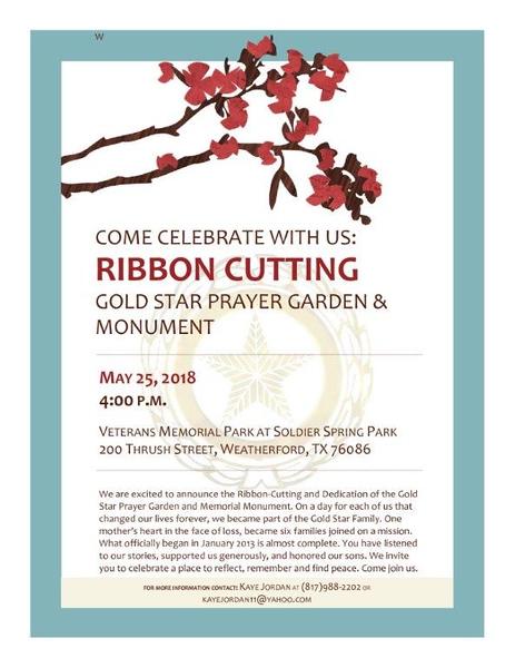 Parker County Goldstar Family Dedication - 05/25/2018