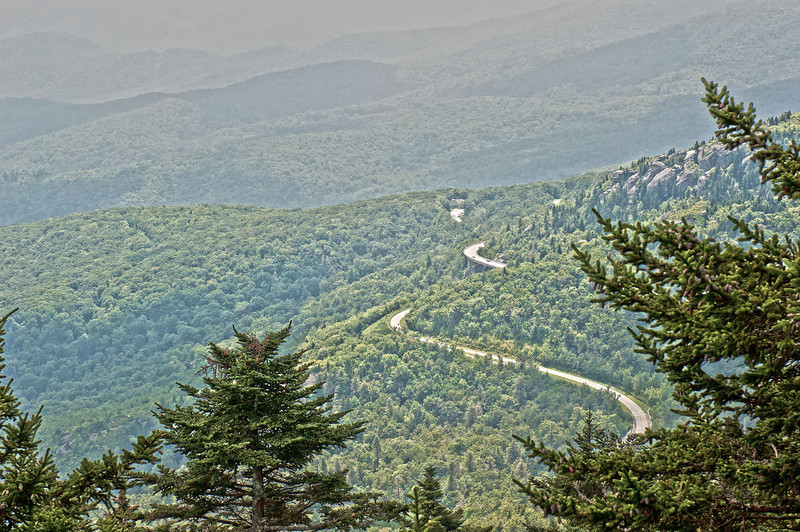 Very Haze day over Linn Cove Viaduct