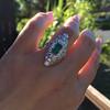 3.50ctw Art Deco Emerald and Old European Cut Diamond Dinner Ring 16