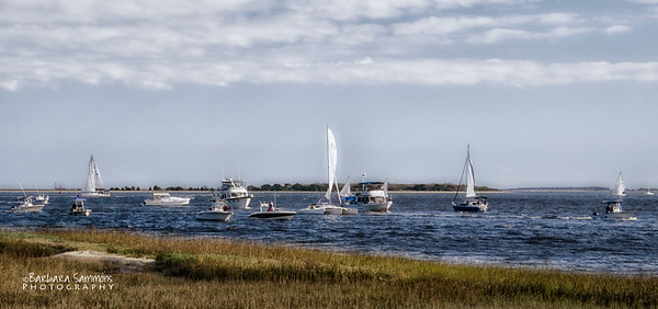 Busy Day on Cape Fear River, Southport, NC