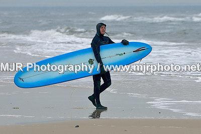 Surfing, Gilgo Beach, NY,  (1-13-07)