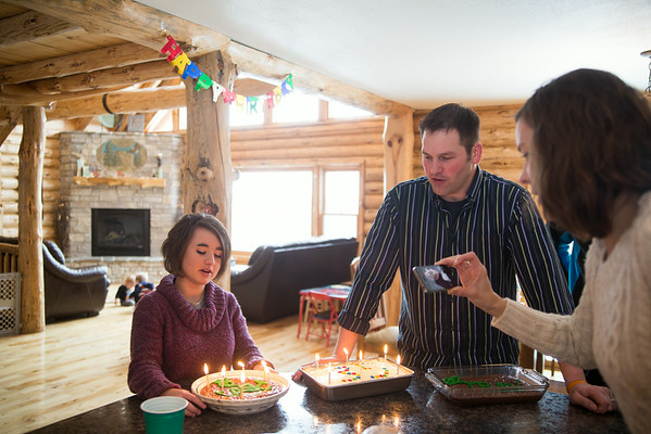 Travis and Kristina's birthday 2014