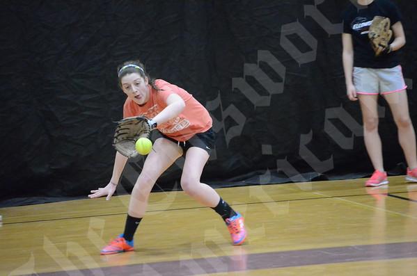 First EHS Softball Practice; 2014